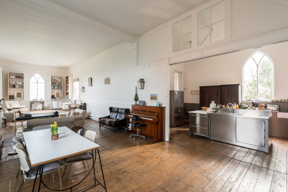 Converted church in Somerset for sale via