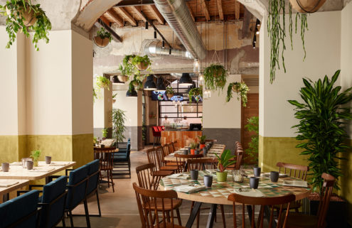 Plant-filled restaurant Soulgreen springs up in Milan