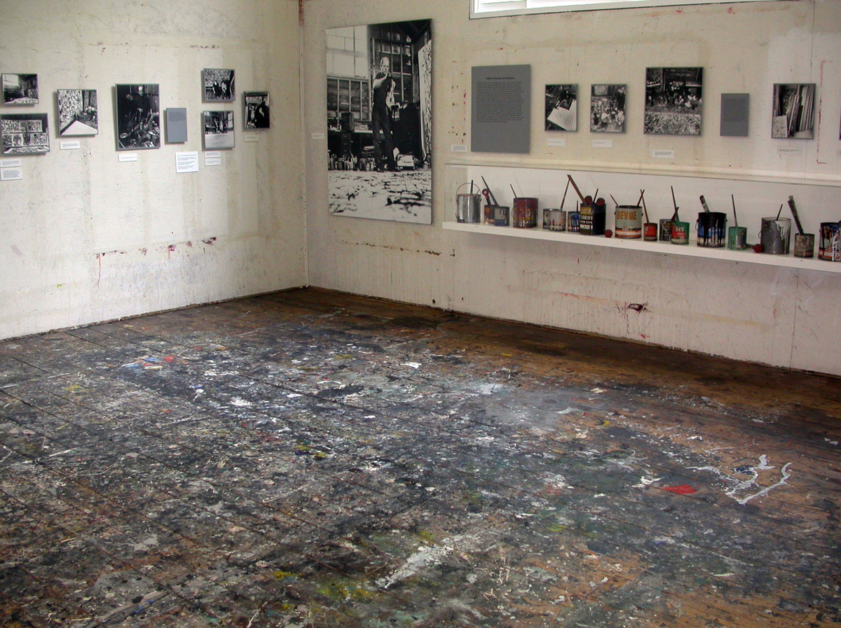 Jackson Pollock and Lee Krasner studio