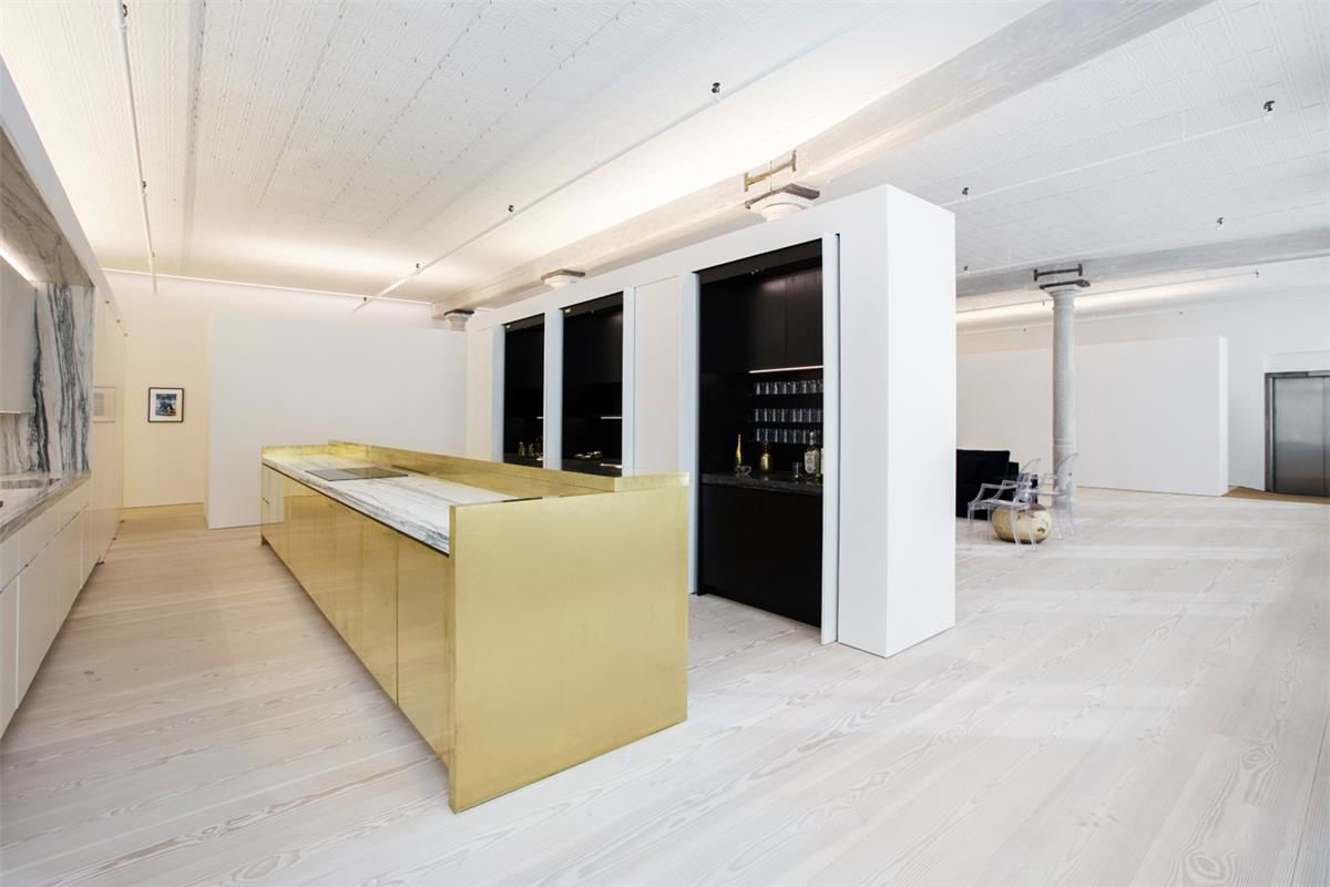 Minimalist NY loft for sale via Warburg Realty