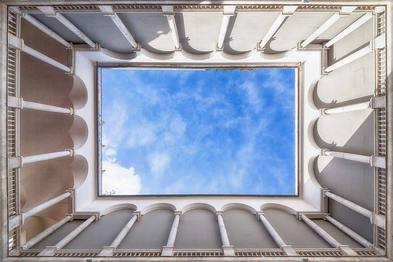 Italian courtyards series, Tunnels to the Sky by Seth Vane.
