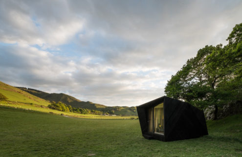 'Arthur's Cave' cabin pops up in West Wales