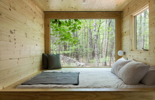 Off-grid cabins pop up in secret locations on New York's beaches