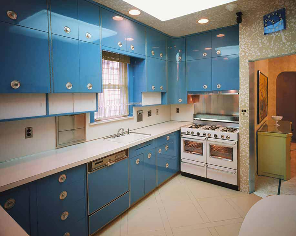The Blue kitchen inside the Louis Armstrong House Museum