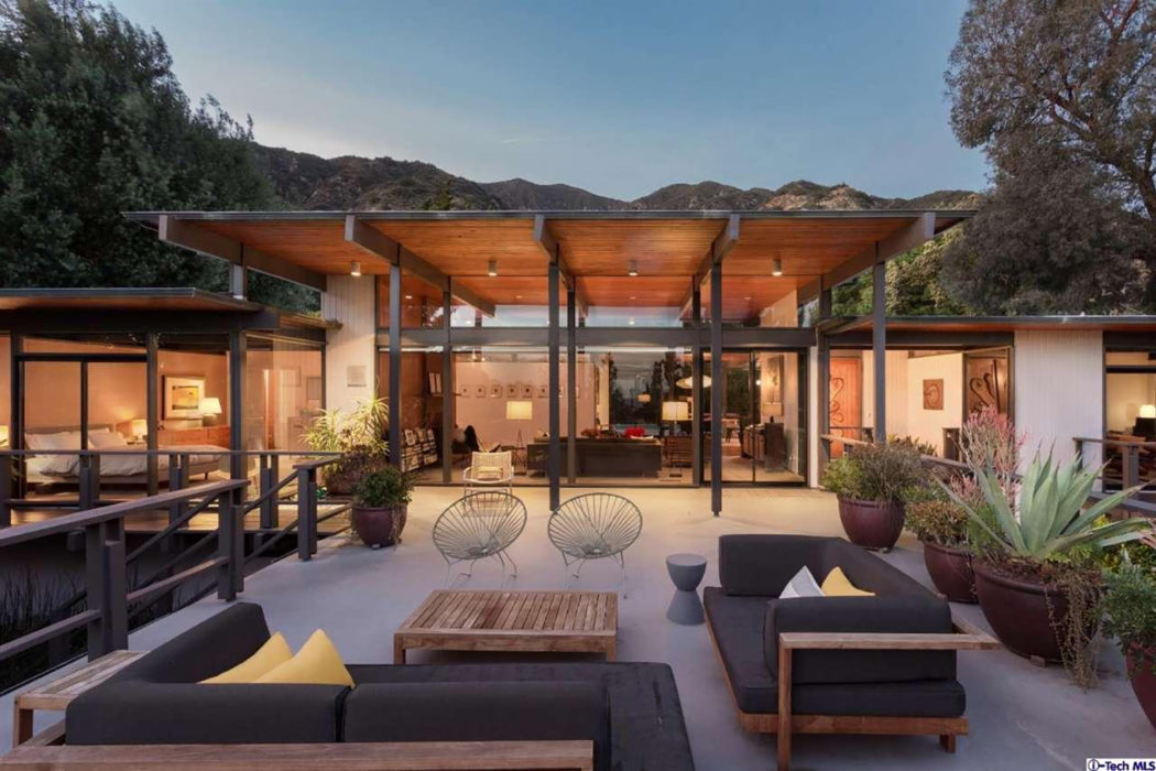 Post and beam home by Thomas A Dismukes lists for $1 9m in Pasadena