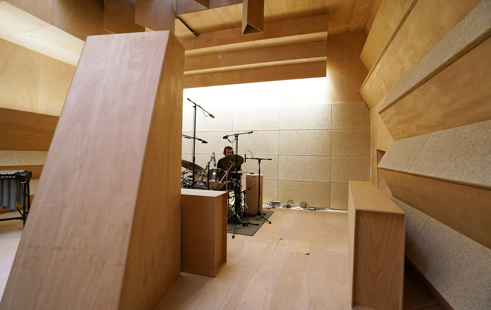 Xavier Veilhan's recording studio installation at the French Pavilion during the Venice Biennale