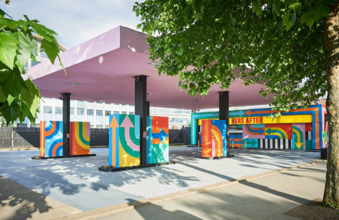 Derelict petrol station becomes a dazzling artwork in London