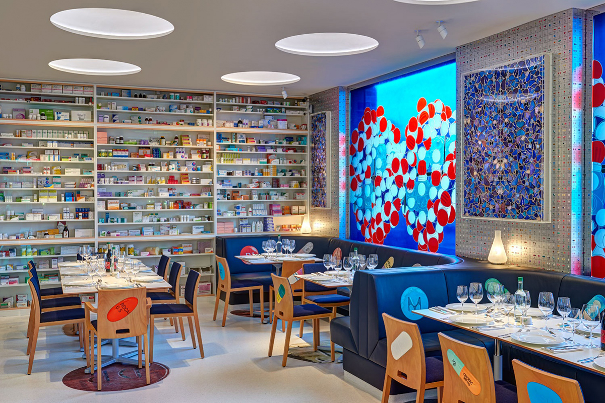 Restaurants with art collections: Pharmacy 2