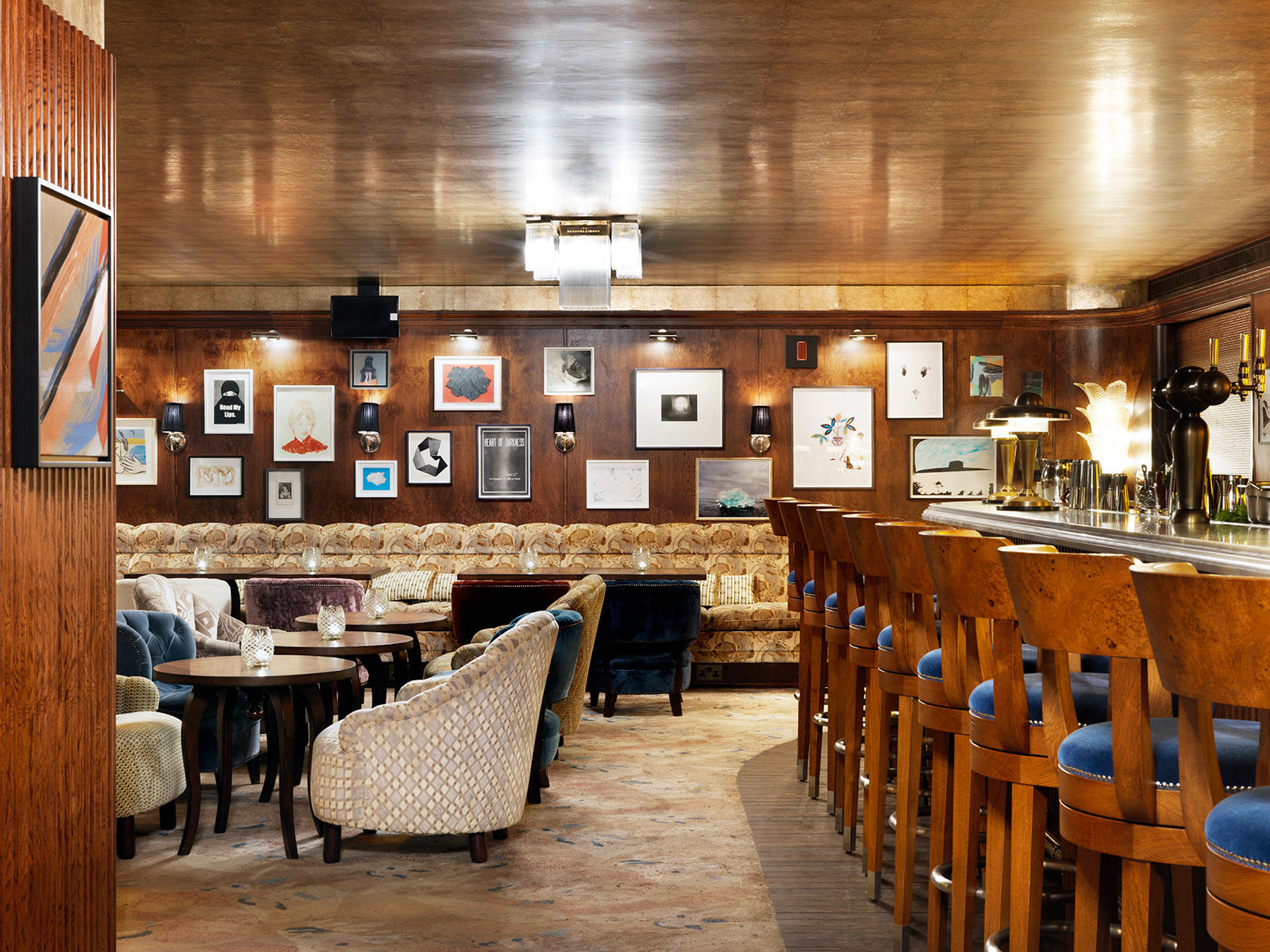 Restaurants with exceptional art collections: The Ned Vault interior