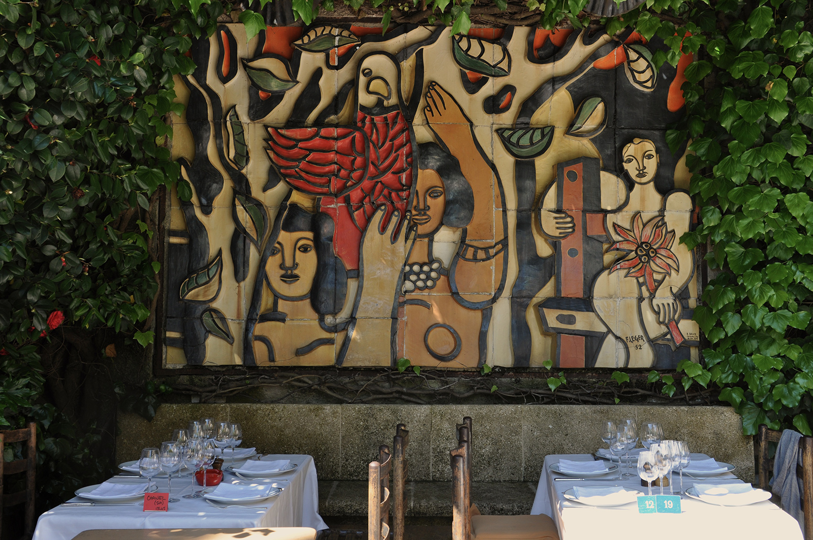 Restaurants with art collections: La Colombe d'Or