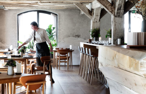 René Redzepi's new Barr restaurant feels like a woodland cabin in Copenhagen