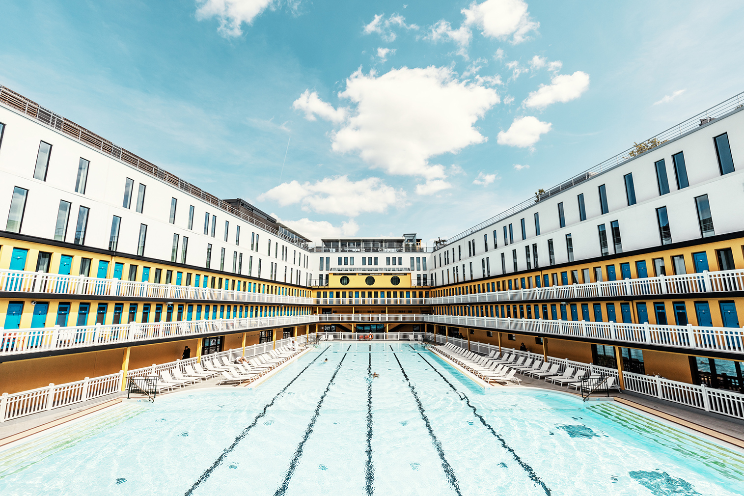 Paris swimming pools photo essay by Ludwig Favre