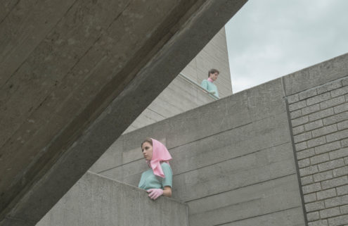 Concrete is given a Wes Anderson spin by photographer Marietta Varga