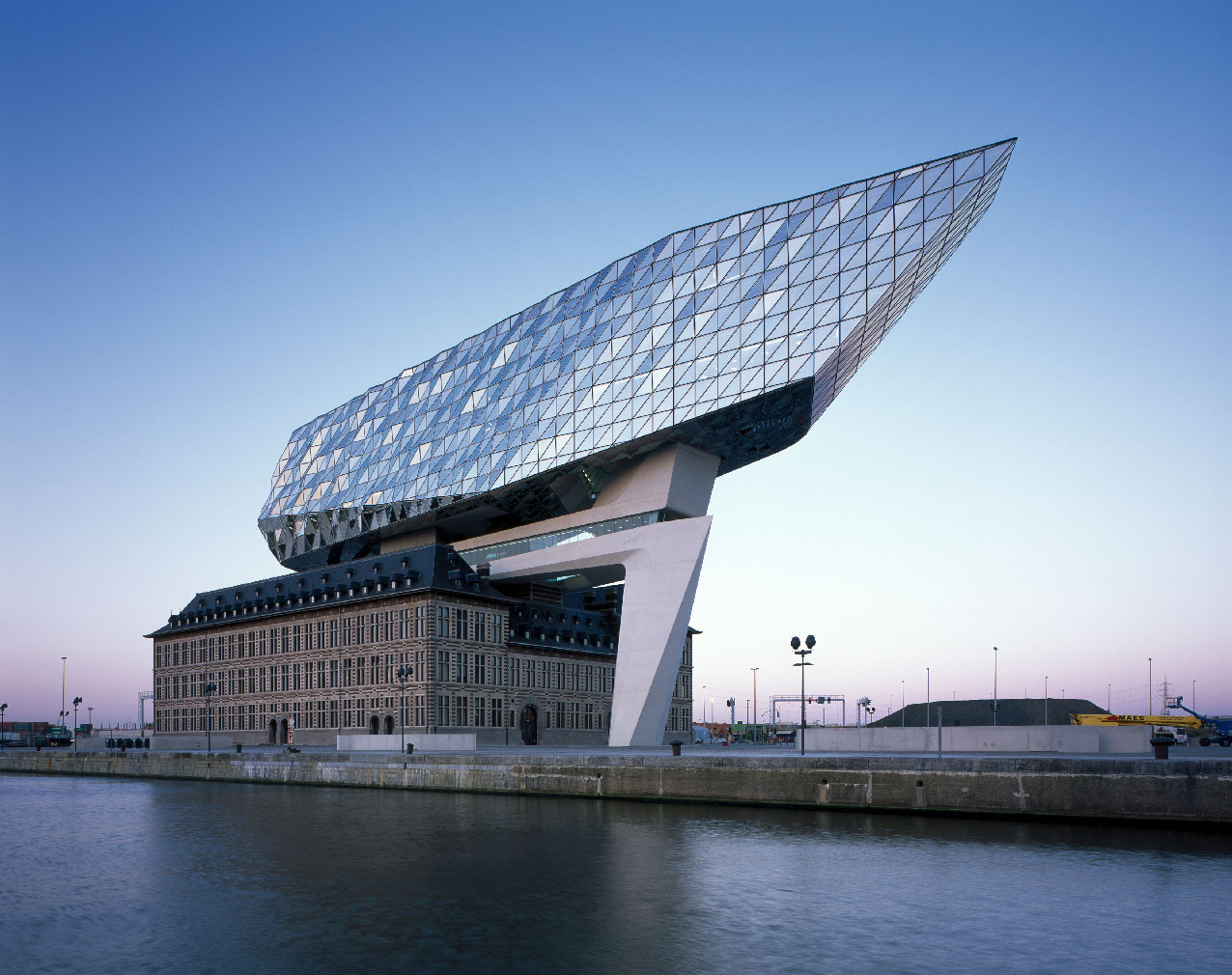 London's Design Museum 2017 Beazley Designs Nominee: Port House, Antwerp, Belgium, by Zaha Hadid Architects