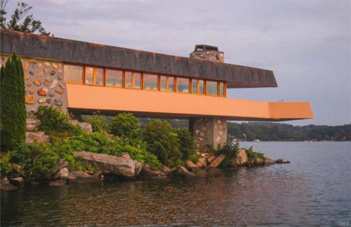 Private island with a pair of Frank Lloyd Wright homes lists for $15m