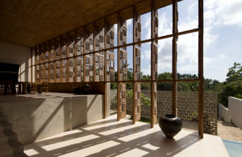 Holiday home of the week: a Sri Lankan villa by Shigeru Ban