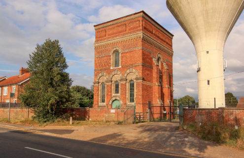 A Victorian water tower lists for £175,000 in Norfolk, UK