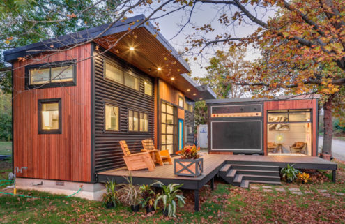 This tiny home is also an amp