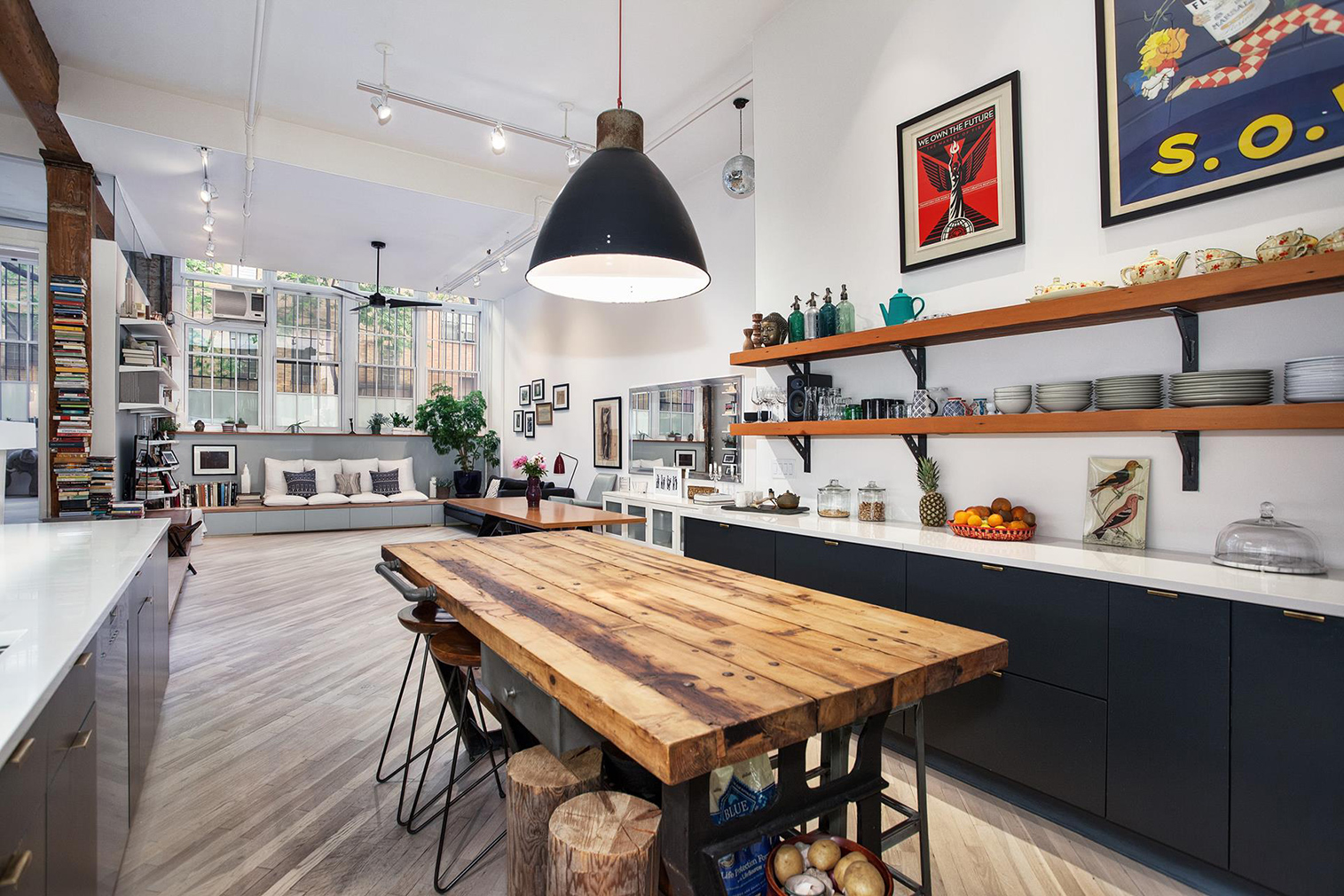 Property Of The Week A SoHo Loft With Soaring Ceilings - Contemporary soho loft with exposed brick and wood beams