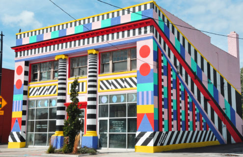 Former bank in Ohio gets a technicolour dreamcoat by Camille Walala