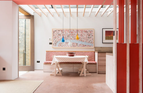 London home designed by Jonathan Tuckey is for rent for £2,600 per week