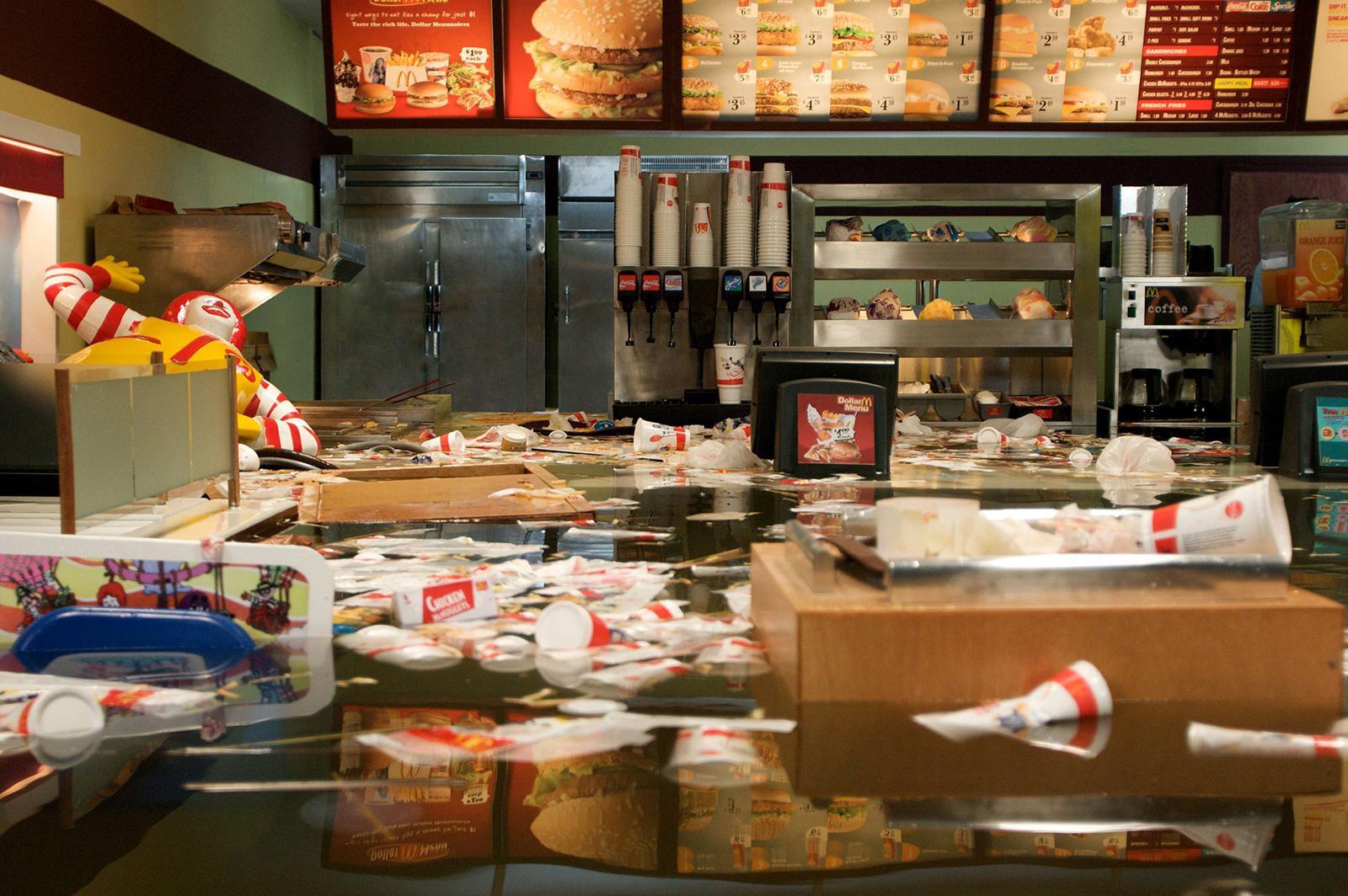 Superflex, 'Flooded Macdonalds', 2008. Courtesy of the artists / Tate Modern