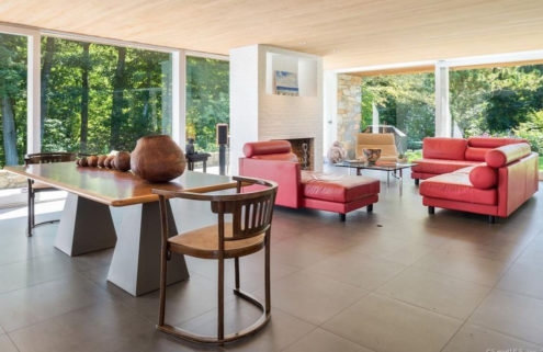 Marcel Breuer's stone and wood Donald N Clark House in Connecticut lists for $1.6m