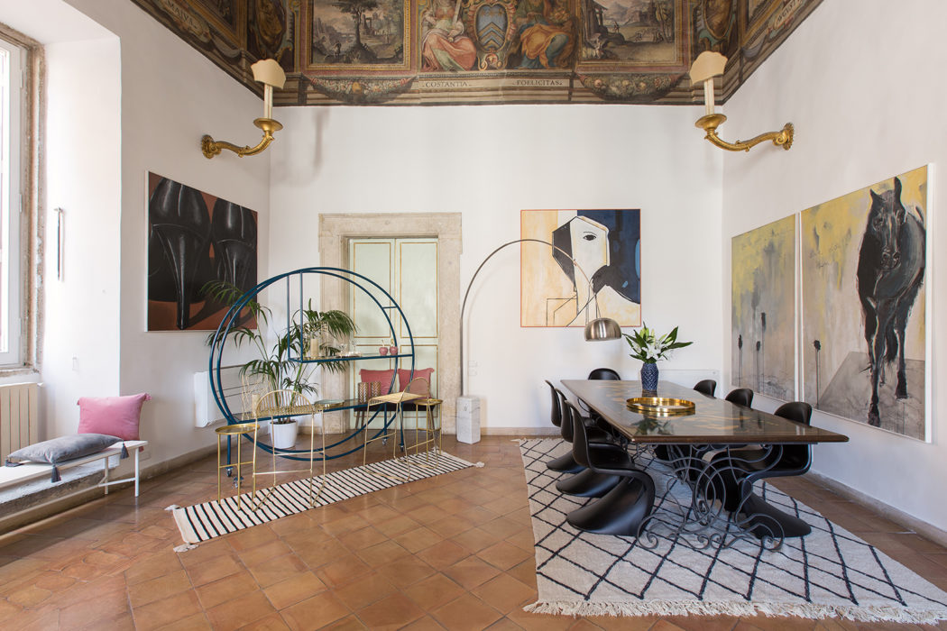 Holiday home of the week: a fresco-filled apartment in Rome