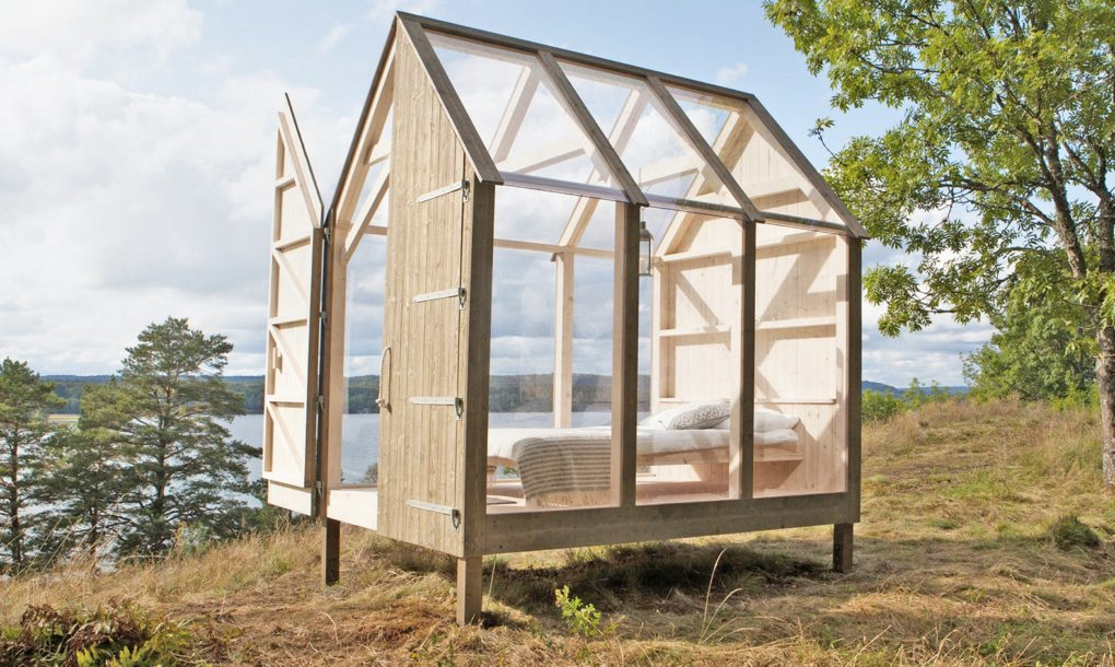 Swedish glass cabin