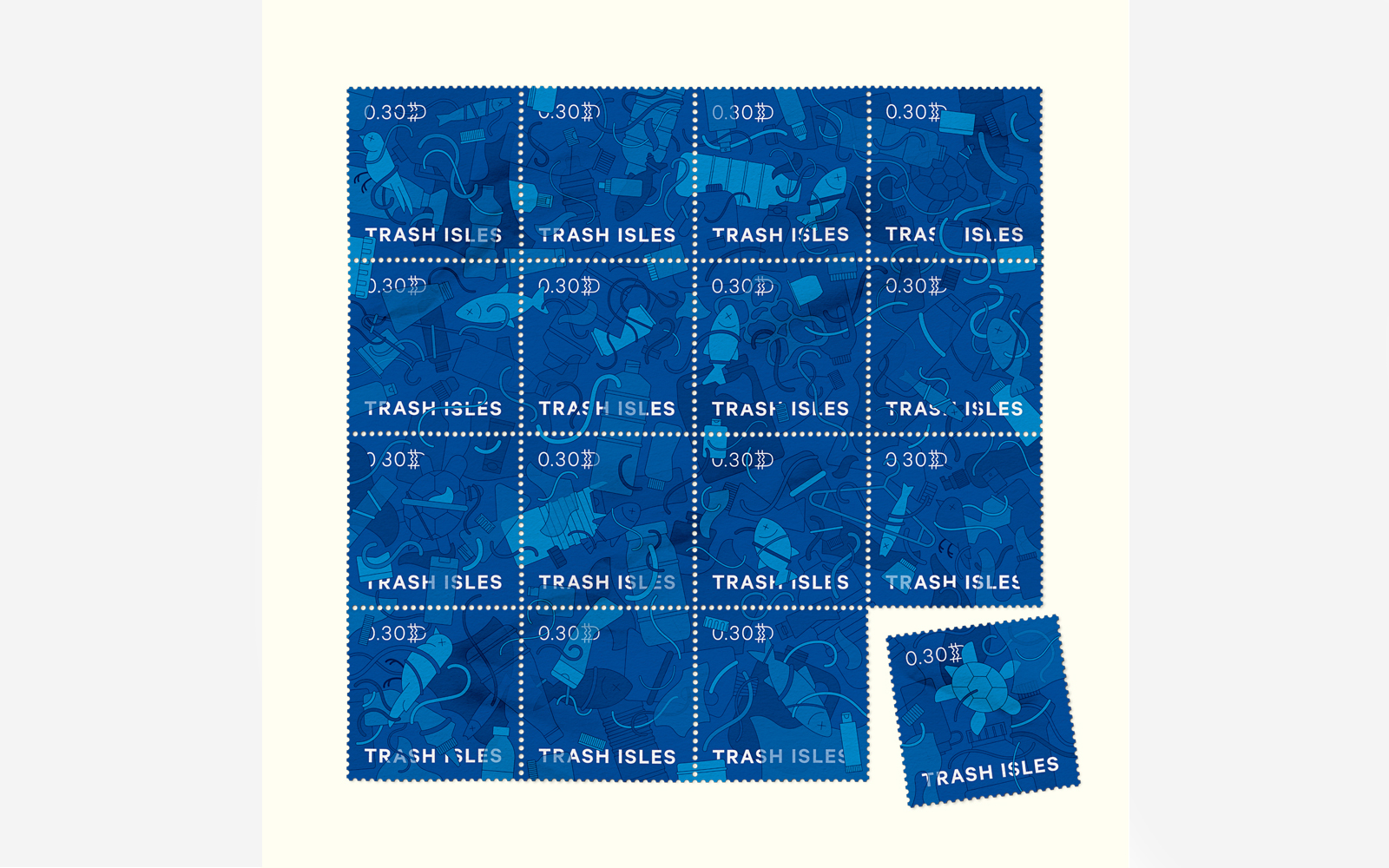 Trash Isles stamps