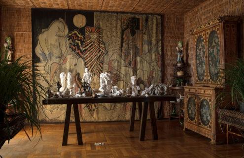 Artist fills Jean Cocteau's Villa Santo Sospir with sculptures