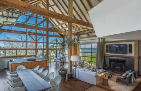 Fashion designer's converted barn in the Hamptons lists for $45m