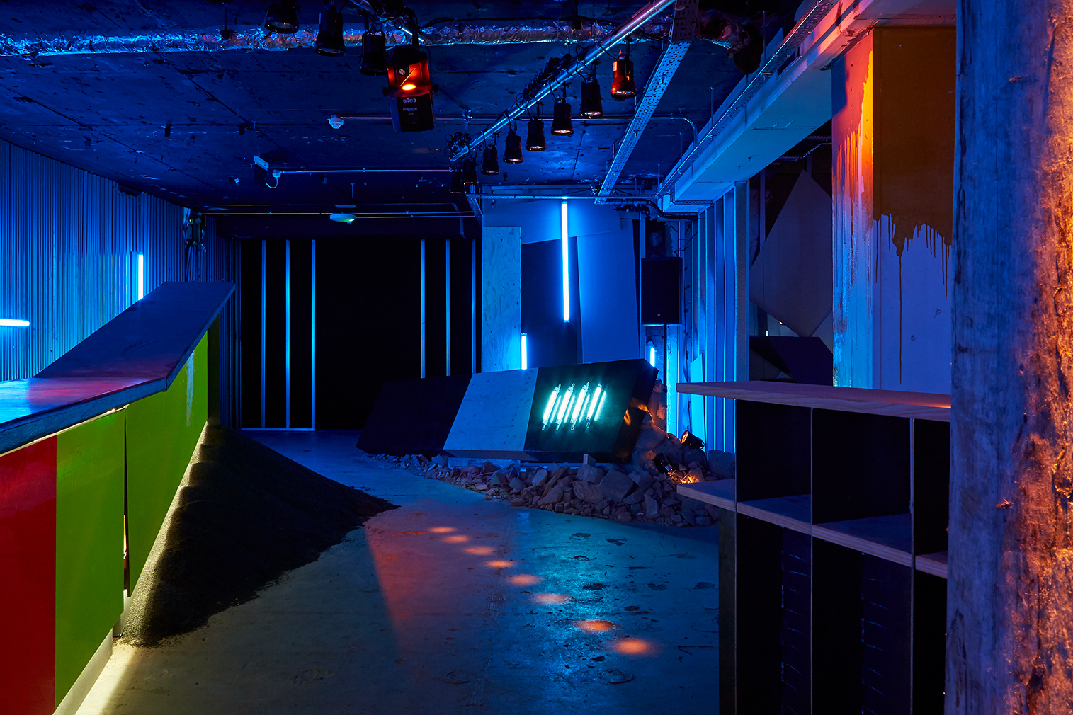 9 fashion designers inspired by architecture: Virgil Abloh. Pictured is his 'Ruin' nightclub installation