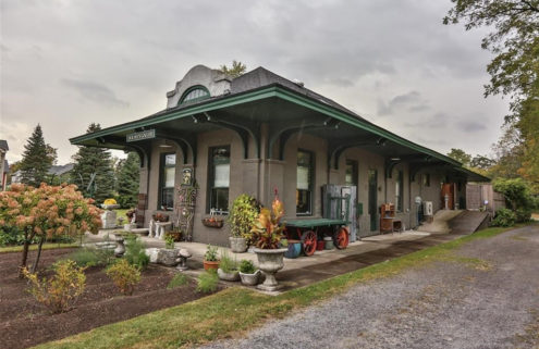Converted train station in Upstate New York lists for $395,000