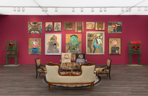 Artist Enrico Baj's home is recreated at Frieze Masters