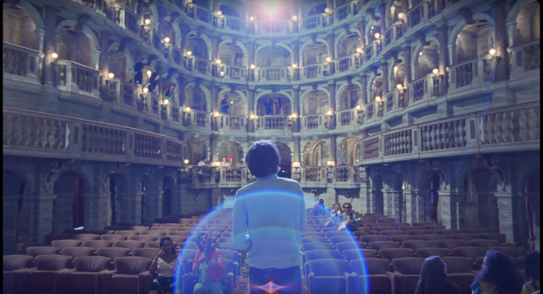 A still from Phoenix's 'Ti Amo' in Teatro Bibiena di Mantova