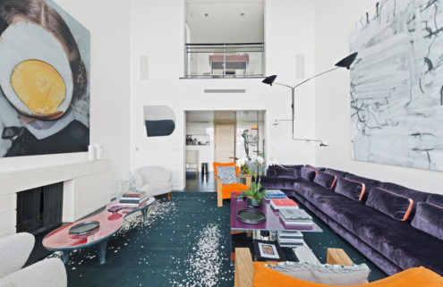Gallerist's soaring duplex hits the market in New York for $16.5m