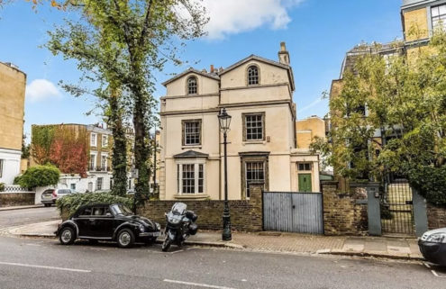 Playwright Alan Bennett is selling his 'Lady in a Van' London home