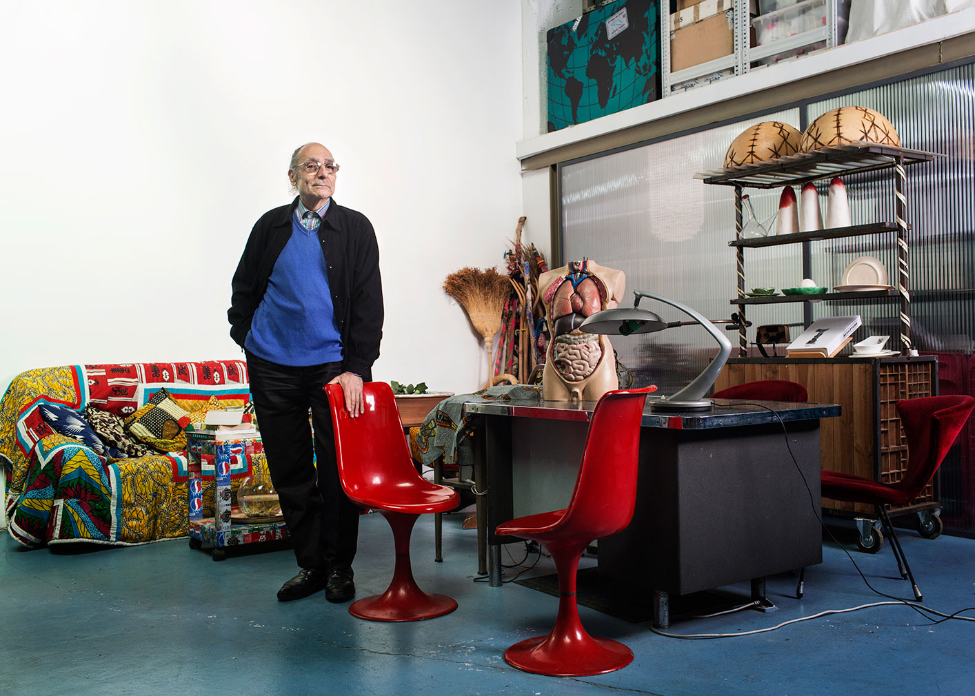 Antoni Miralda in his Barcelona studio and home