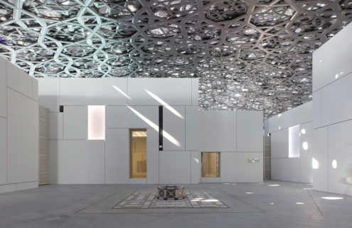 Louvre Abu Dhabi's giant dome creates a 'rain of light'