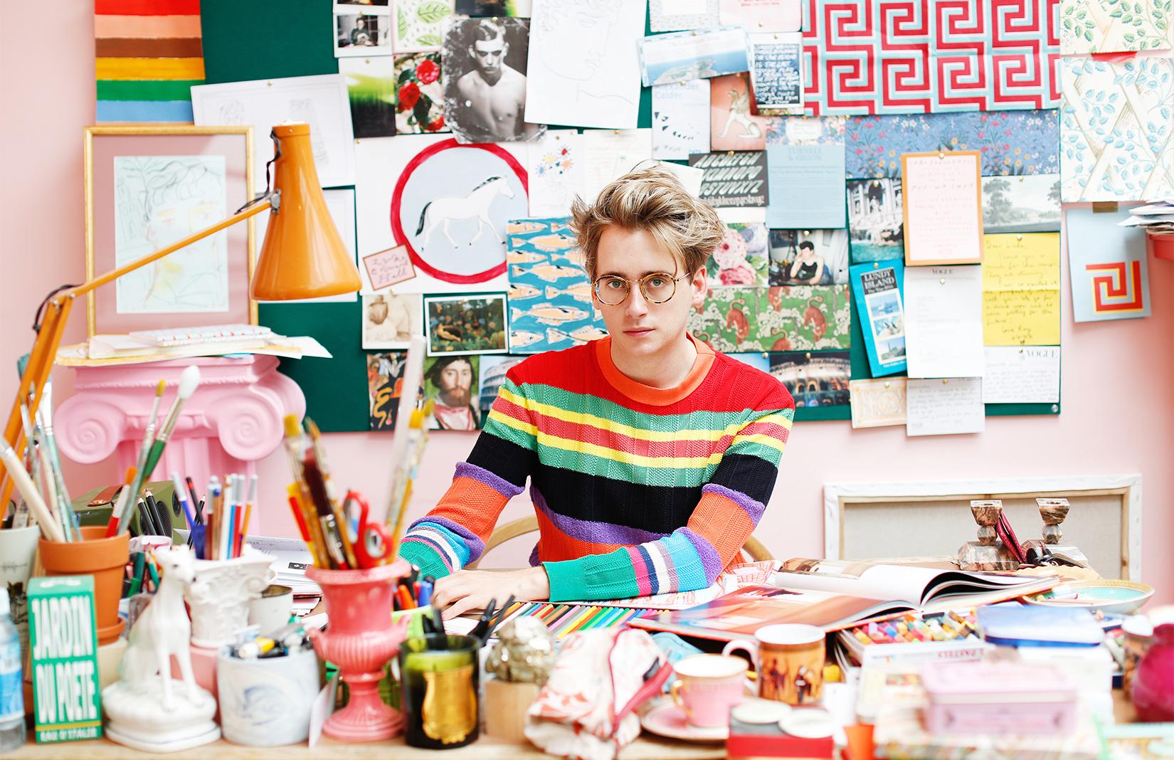 Maximalist designer Luke Edward Hall