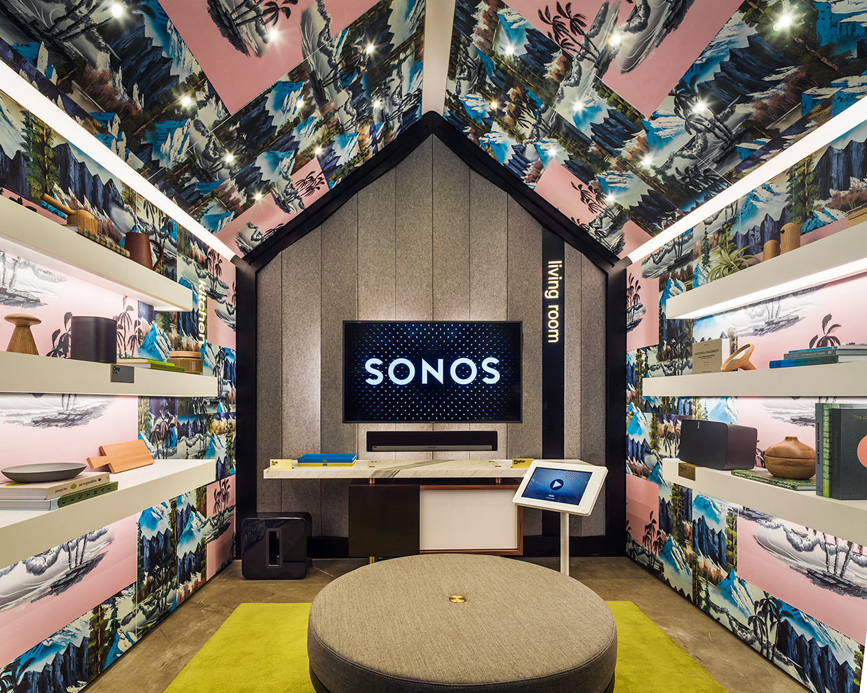 Sonos\' London concept store has cabin-shaped listening rooms