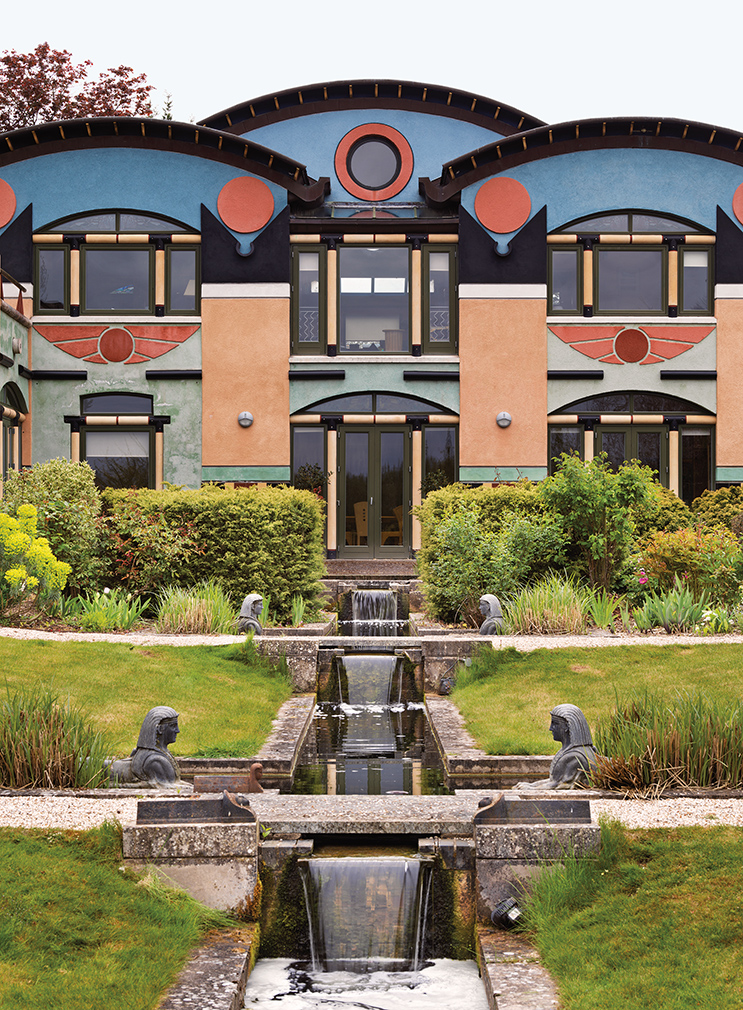 postmodern residential architecture. Contemporary Postmodern Sphinx Hill In Moulsford Oxfordshire Designed 1994 Onwards Built 1998u20139  By John Outram Associates Photography James O Davies  Historic England C Inside Postmodern Residential Architecture T