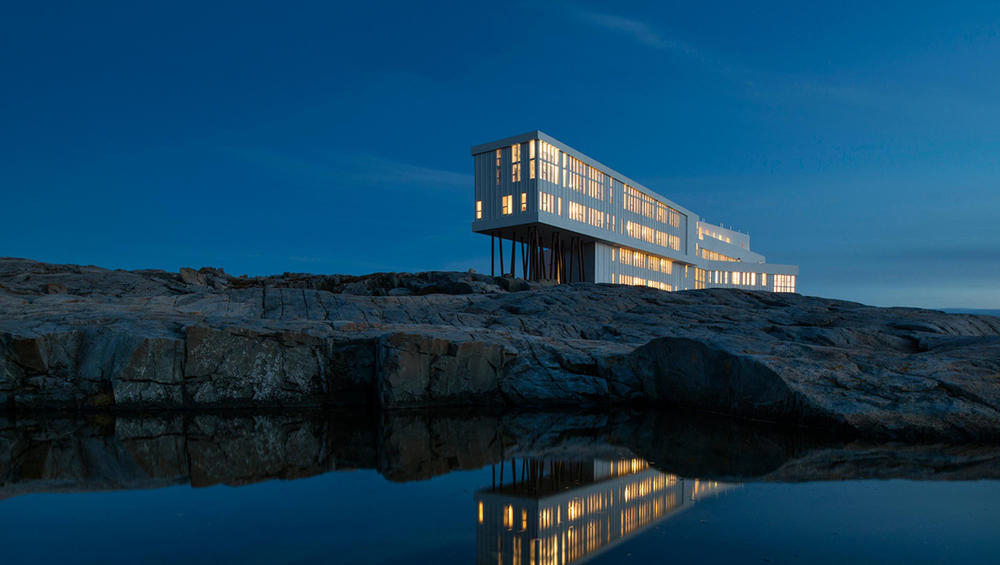 Fogo Island Inn in Newfoundland where you can see the Northern Lights swirling overhead