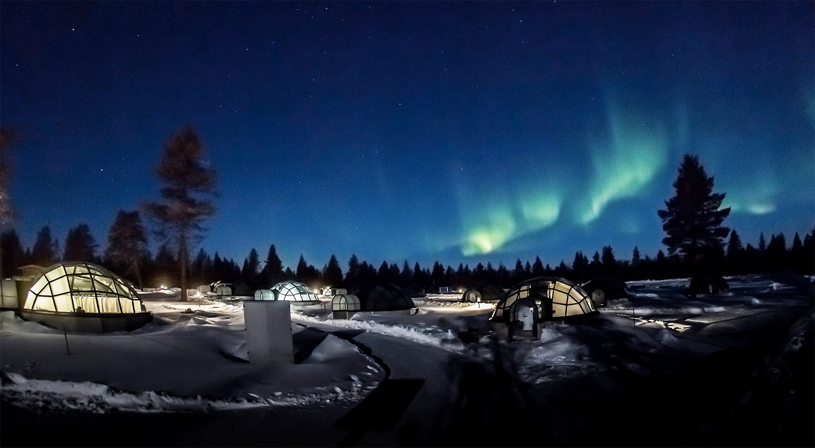 Kakslauttanen Arctic Resort - where you can watch the Northern Lights from your bed