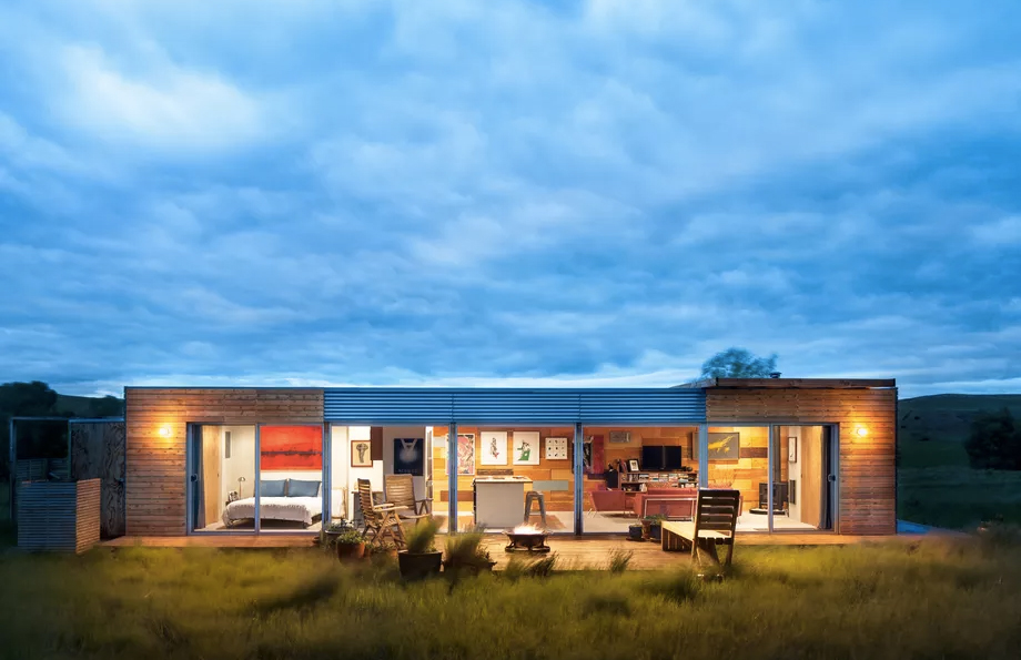 Shipping container house in Montana lists