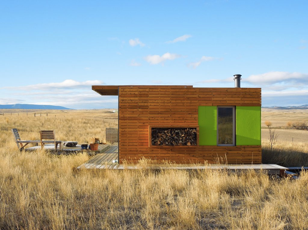 shipping container house in montana lists for 125k. Black Bedroom Furniture Sets. Home Design Ideas