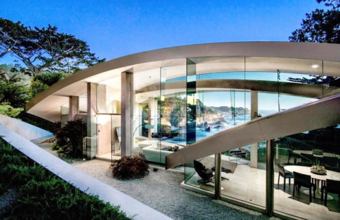Curvy 'Butterfly' house by Wallace Cunningham lists for $11.4m in California
