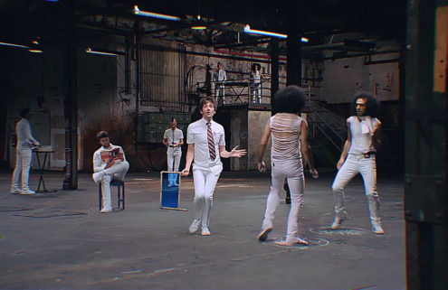 General Elektriks romp around a former Berlin bus depot in video 'Different Blue'