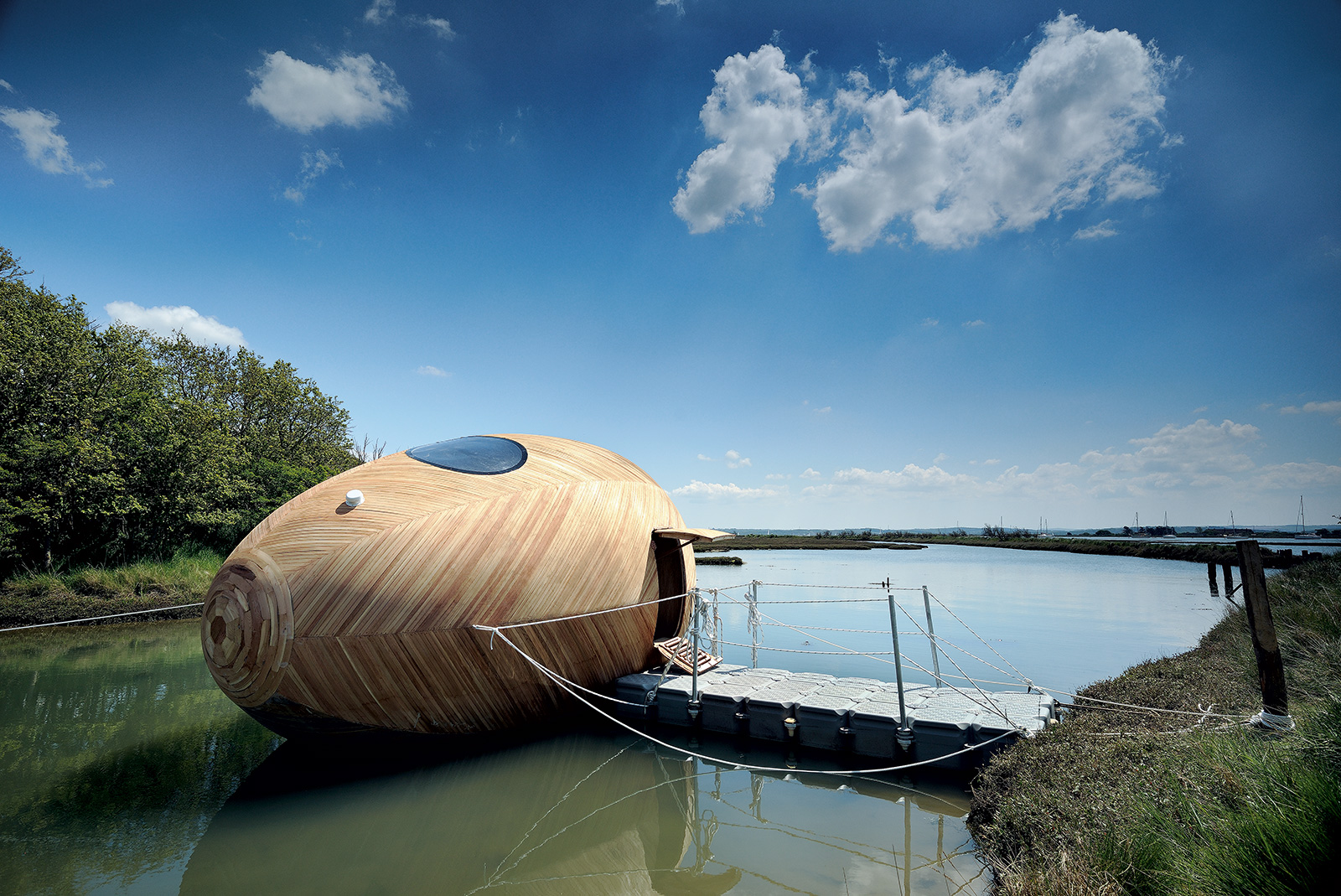 Living on the water: Exbury Egg retreat